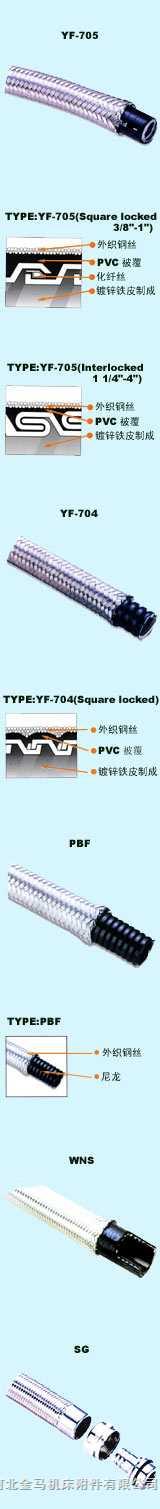 外层编织耐油防水电气软管及接头