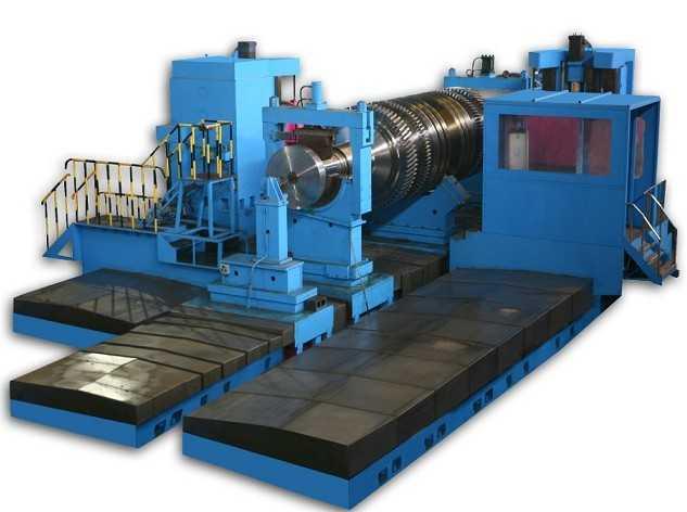 核电专用双轴轴向数控轮槽铣床